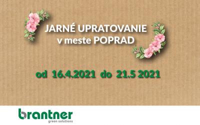 Jarné upratovanie v meste Poprad 2021