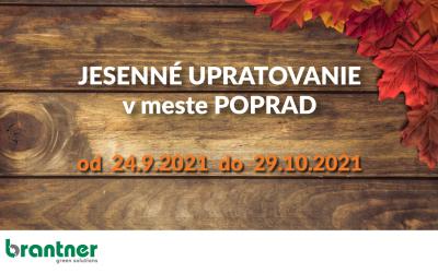 Jesenné upratovanie v meste Poprad 2021